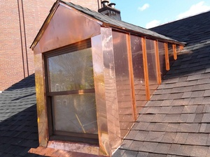 Copper work for roofing